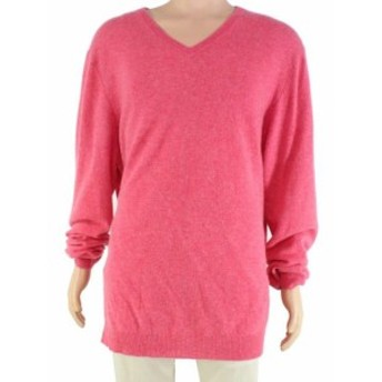 Red  ファッション トップス Club Room Mens Sweater Washed Rose Red Size 3XL V-Neck Cashmere