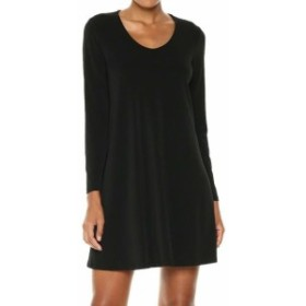 Karen Kane カレンケーン ファッション ドレス Karen Kane Black Bell-Sleeve Taylor Womens XL Scoop Neck A-Line Dress