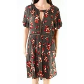 ファッション ドレス Blue Pepper NEW Green Size Large L Junior Floral Lace Trim Sheath Dress
