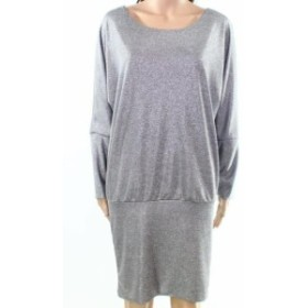 Silver  ファッション ドレス The Vanity Room NEW Silver Womens Size Large PL Petite Sweater Dress