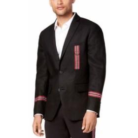 Blazer ブレザー ファッション フォーマル INC NEW Black Deep Mens Size XL Linen Slim-Fit Two Button Blazer
