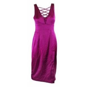 Nanette Lepore ナネットレポー ファッション ドレス Nanette Lepore Fuchsia Sleeveless Lace Neck Sheath Dress 6