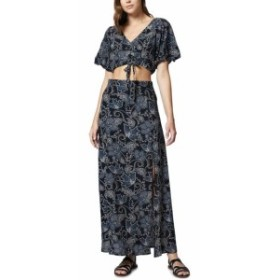 Sanctuary サンクチュアリ ファッション ドレス Sanctuary Womens Black Size Large L Floral Print Cut Out Maxi Dress