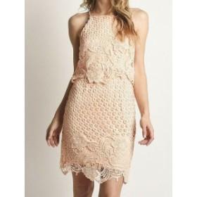 BB Dakota BB ダコタ ファッション ドレス BB Dakota NEW Pink Floral Embroidered Lace 4 Popover Sheath Dress