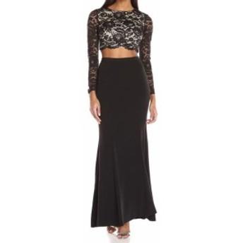 Aidan Mattox エイダンマトックス ファッション スカート Aidan Mattox NEW Black Womens Size 4 Floral Lace Skirt Set