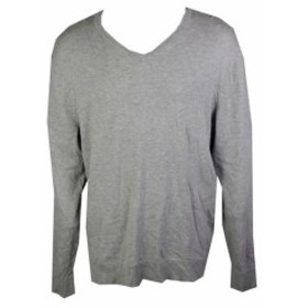 HEATHER  ファッション トップス Alfani Heather Grey Slim-Fit Light Weight Regular Fit V-Neck Knit Sweater XXL