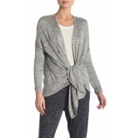 Bobeau ボビュ ファッション トップス Bobeau NEW Heather Gray Womens Size Medium M Tie Front Cardigan Sweater