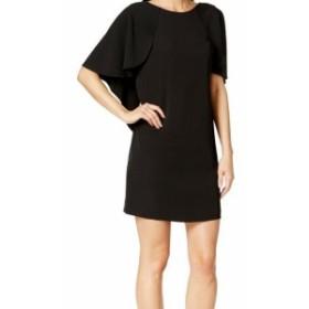 Calvin Klein カルバンクライン ファッション ドレス Calvin Klein NEW Deep Black Womens Size 2P Petite Capelet Shift Dress