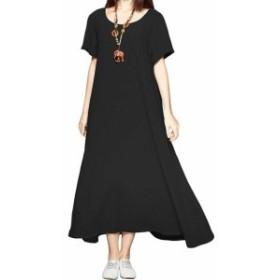 Shift  ファッション ドレス Anysize Womens Black Size 4X Plus Dolman Scoop Neck Shift Dress
