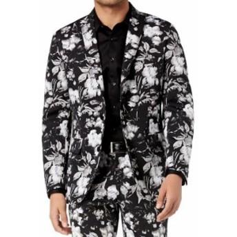 Blazer ブレザー ファッション フォーマル INC NEW Black Mens Size Large L Floral Print Slim Two Button Blazer