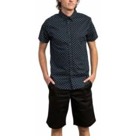 RVCA ルーカ ファッション アウター RVCA Mens Shirt Navy Blue Size Small S Paisley Print Button Down