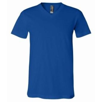 ファッション トップス Bella + Canvas Mens V-Neck T-Shirt 7 Colors 100% Cotton Plain Tee S-2XL New Cool