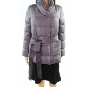 max マックス ファッション 衣類 Weekend Max Mara NEW Gray Womens Size 2 Belted Puffer Quilted Jacket