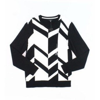 Alfani  ファッション トップス Alfani NEW Black Mens Size 3XL Colorblock V-Neck Broken Chevron Sweater