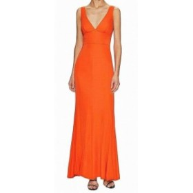 Maxi  ファッション ドレス A.B.S. by Allen Schwartz NEW Orange Womens Size Medium M Maxi Dress