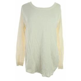 Made  ファッション トップス Made For Impulse Fashion Week Natural Long-Sleeve Sheer-Paneled Sweater L