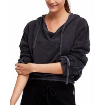 Free People フリーピープル ファッション トップス Free People Womens Gray Size XS Fleece Cropped Dolman Sleeve Hoodie