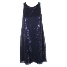 ファッション ドレス Msk navy sleeveless glitter dress 12