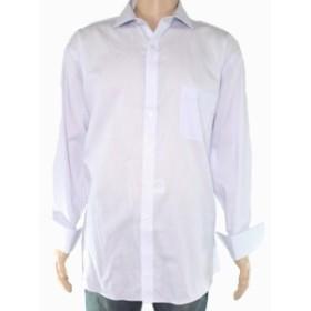 ファッション ドレス Tasso Elba Mens Dress Shirt Blue White Size 18 Pinstriped One-Pocket