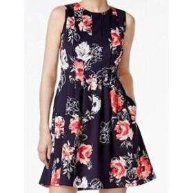 Jessica Howard ジェシカハワード ファッション ドレス Jessica Howard NEW Blue Womens 8P Petite Floral Scuba A-Line Dress
