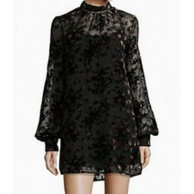 Wayf ウェイフ ファッション ドレス Wayf NEW Deep Black Red Womens Size XS Floral Overlay Shift Dress