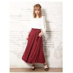 INGNI(イング)サイドベルトプリーツ切替/スカート