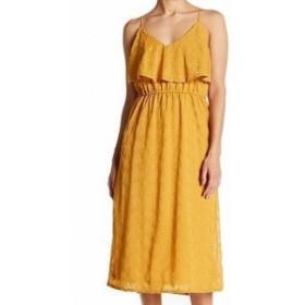 spirit スピリット ファッション ドレス Spirit of Grace Womens Dress Yellow Size Small S Embroidered Maxi