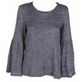 Vince ヴィンス ファッション トップス Vince Camuto Grey Black Bell-Sleeve Sweater S