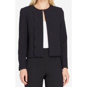 Tahari タハリ ファッション 衣類 Tahari By ASL NEW Black Womens Size 16 Open Front Scallop Trim Jacket