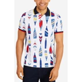 nautica ノーティカ ファッション アウター Nautica Mens Shirt White Size XL Bottle Print Colorblock Polo Rugby