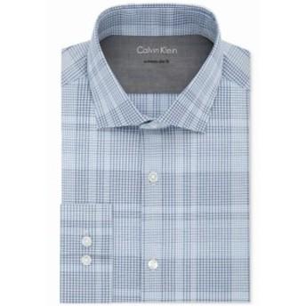 Calvin Klein カルバンクライン ファッション ドレス Calvin Klein NEW Blue Mens 15 1/2 Plaid Extreme Slim Fit Dress Shirt