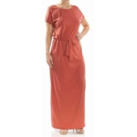 Sanctuary サンクチュアリ ファッション ドレス Sanctuary Womens Orange Size XL Belted Side Slit T-Shirt Maxi Dress