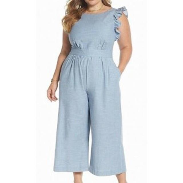 1901 ワンナインオーワン ファッション ジャンプスーツ 1901 NORDSTROM NEW Blue Womens Size 22W Plus Wide Leg Jumpsuit