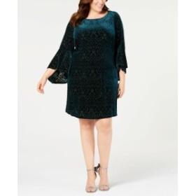 bell ベル ファッション ドレス Jessica Howard Womens Dress Green Size 20W Plus Sheath Bell Sleeve