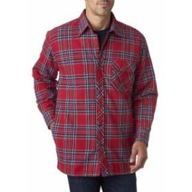 ファッション トップス Backpacker Mens Flannel Shirt Jacket with Quilt Lining BP7002 S-3XL