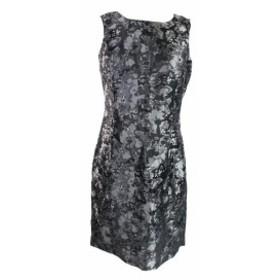 Michael Kors マイケルコルス ファッション ドレス Michael Michael Kors Black Silver Sleeveless Printed Sheath Dress 4