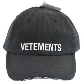 VETEMENTS(ヴェトモン)19AW ×Reebok Logo Cap ヴェトモン×リーボック ロゴ刺繍 ベースボールキャップ ブラック