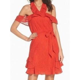 1901 ワンナインオーワン ファッション ドレス 1901 NORDSTROM NEW Orange Womens Size Small S Cold Shoulder A-Line Dress