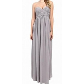 Donna Morgan ドナモーガン ファッション ドレス Donna Morgan NEW Gray Womens Size 2 Pleated Strapless Gown Dress