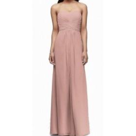 ファッション ドレス Remedios NEW Pink Coral Womens Size 14 Chiffon Pleated A-Line Gown