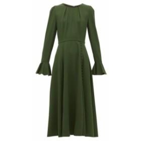 ビューラ Beulah レディース ワンピース ミドル丈 ワンピース・ドレス yahvi buttoned wool midi dress Green