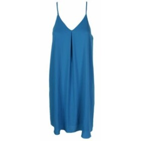 Vince ヴィンス ファッション ドレス Vince camuto blue textured pleat front tank dress xs