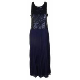 Midnight  ファッション ドレス Msk midnight sleeveless sequin front popover chiffon dress 8