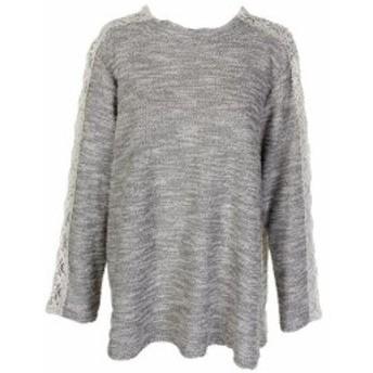 ファッション トップス Style & Co Ivory Black Metallic Crochet-Trim Jumper