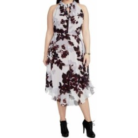 Rachel Roy レイチェルロイ ファッション ドレス Rachel Rachel Roy NEW Purple Womens Size 24W Plus Floral Sheath Dress