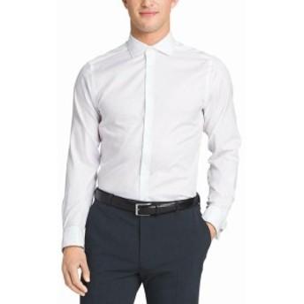 Calvin Klein カルバンクライン ファッション ドレス Calvin Klein NEW White Mens Size 15 Non Iron Slim Fit French Cuff Dress