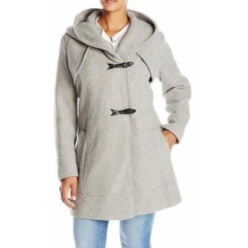Jessica Simpson ジェシカシンプソン ファッション 衣類 Jessica Simpson NEW Gray Womens Size 1X Plus Braided Duffle Coat