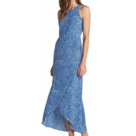 Maxi  ファッション ドレス Toad & Co. NEW Blue Women Size Large L Floral Print Tulip Hem Maxi Dress