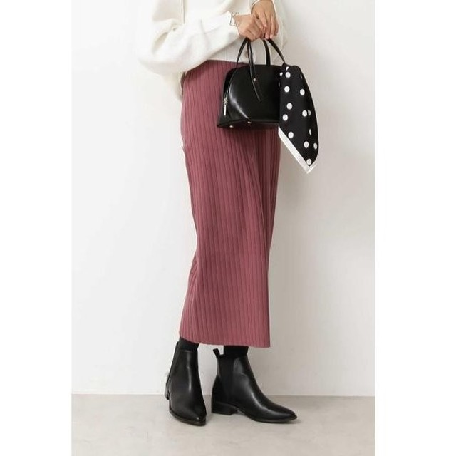 N.Natural Beauty Basic / エヌ ナチュラルビューティーベーシック 総針リブニットタイトスカート