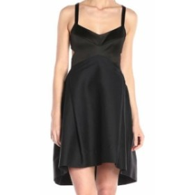 Halston Heritage ハルストンヘリテージ ファッション ドレス Halston Heritage NEW Black Womens Size 4 Fit & Flare A-Line Dress